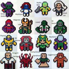 Choose 3 Marvel Villains Perler / Hama Bead por HouseOfVicness