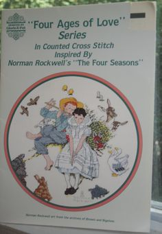 Norman Rockwell Cross Stitch Pattern Four Ages of Love by Aurelas, $5.00