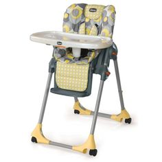 Chicco Polly Double Pad Vinyl High Chair