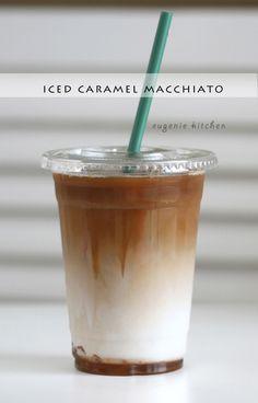 How to Make Starbucks Iced Caramel Macchiato [Copycat Recipe] - Eugenie Kitchen