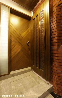 Modern Entrance Door, Main Entrance Door Design, Wooden Front Door Design, Modern Wooden Doors, House Entrance, Entrance Ideas, House Main Door Design, Home Door Design, Door Design Interior