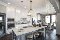 Ideal Homes Model Home Kitchen in Oklahoma City