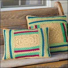 Ravelry: Log Cabin Pillows pattern by Katherine Eng