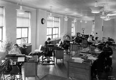 Bookkeeping office, 1933.