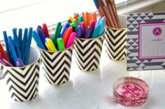 home office decor and style - DIY Stationary Home Office Space, Home Office Decor, Office Ideas, Irises, Cute Office Supplies, Office Supply Organization, Office Organization, Organizing Ideas, Blog Love