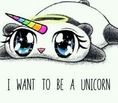 Panda as a unicorn! I would like to see that.