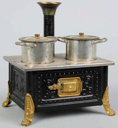 Early Child's Tin Toy Stove