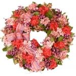 Raspberry Fizz wreath from The Southern Home - LOVE IT!