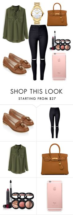 """Untitled #153"" by elc14 ❤ liked on Polyvore featuring Accessorize, WithChic, Hermès, Laura Geller and Movado"