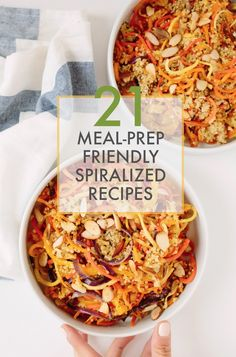 This 21 MealPrep Friendly Spiralized Recipes is a better for our dinner made with awesome ingredients! Healthy Food Blogs, Healthy Eating Recipes, Veg Recipes, Delicious Recipes, Healthy Fit, Simple Recipes, Dinner Recipes, Dessert Recipes, Desserts