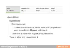 People spent a combined 38 years watching the TFIOS trailer