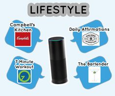 Lifestyle Skills www.theteelieblog.com Alexa also helps you get the recipe by enabling the Campbell's Kitchen skill, help you stay fit and healthy with the 7 minute workout, provides a daily uplifting, positive thought for you to take throughout the day. And Alexa will also help you make the best drinks. #TeelieBlog