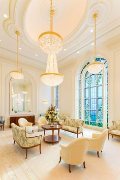See Inside the New Paris France Temple - Church News and Events Interior And Exterior, Room, House, Interior, Hotel, Celestial Room