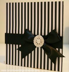 #black #white #modern #glamour #wedding #invitation