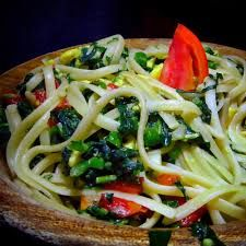 Image result for callaloo jamaican food Jamaican Dishes, Jamaican Recipes, Jamaica National, Spaghetti, Meat, Chicken, Ethnic Recipes, Image, Food