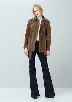 Suede jacket | MANGO