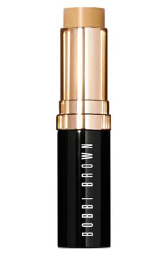 Bobbi Brown skin foundation stick: After moisturizing, lightly apply across forehead, cheeks, nose and chin. Blend with fingertips, sponge or foundation brush.