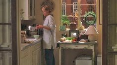 """""""You've got Mail"""" apartment, looking into kitchen from the dining room, love the doors"""