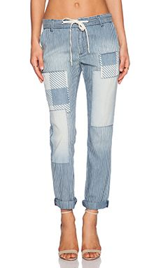 Current/Elliott The Drawcord Trouser in Whereabout Discovery Repair