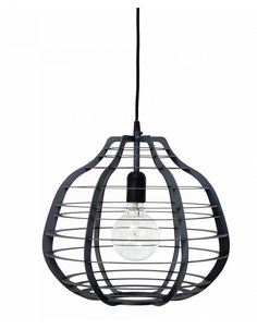 HK Living Lab lamp XL, zwart - Stoer Metaal