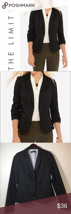 The Limited Madison Blazer ✔️BRAND NEW WITH TAGS ✔️White and Black Striped Lining ✔️One Button Closure ✔️Poly/Rayon/Spandex Blend ✔️Full Length Sleeves The Limited Jackets & Coats Blazers