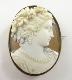 Antique 19c Exceptional Quality 14k Gold Carved Shell Cameo Locket Brooch   eBay