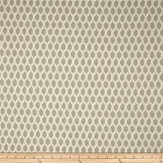 Refresh and modernize an old piece of furniture and update it with a new look. This medium/heavyweight jacquard upholstery fabric is appropriate for some window treatments, accent pillows, upholstering furniture, headboards and ottomans. Colors include grey and white.