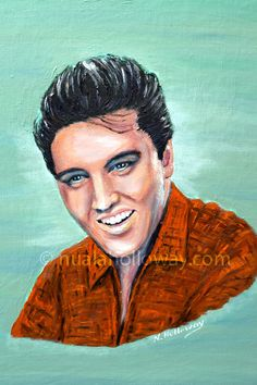 """Elvis 1958"" by Nuala Holloway - Oil on Canvas  (Commission for the book cover of ""Elvis and Ireland"" by Ivor Casey / Published by Appello Press, 2013) #Elvis #ElvisandIreland #OilPainting #Portrait"