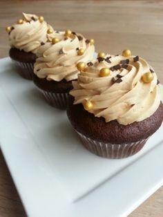 Chocolate cupcakes met Dulce de Leche crème