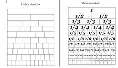 ułamki jak nauczyc School Projects, Word Search, Periodic Table, Words, Google, Diy, Speech Language Therapy, Therapy, Periodic Table Chart