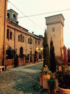 Castelvetro di Modena the old town. Italian countryside
