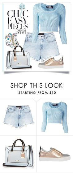 """""""Denim shorts"""" by evachasioti ❤ liked on Polyvore featuring Alexander Wang, Jeremy Scott, River Island and Pierre Hardy"""