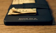 The Machine Era Wallet. Black Aluminum Edition