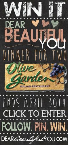 Dinner for Two , Olive Garden Giveaway