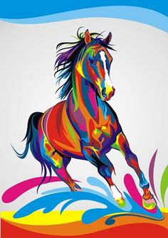 Home Office Decoration Living Room Art Wall Decor HD Prints Animal Color Horse Oil Painting Pictures Printed On Canvas Source by giadaraicovi. Oil Painting Pictures, Pictures To Paint, Abstract Pictures, Arte Pop, Animal Drawings, Art Drawings, Horse Oil Painting, Diy Painting, Colorful Animals