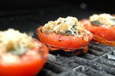 grilled tomatoes, basil, garlic & parm.