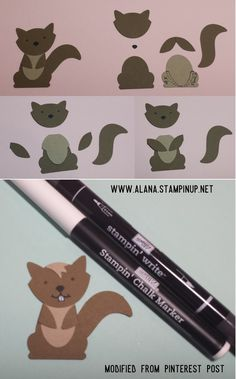 Squirrel Punch Art. Using Foxy Friends Stamp Set & Foxy Builder Punch from Stampin\' Up!