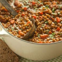 Lentil Chili Recipe, Chili Recipes, Soup Recipes, Whole Food Recipes, Cooking Recipes, Lentil Soup, Lentil Recipes, Lentil Dishes, Lentil Salad