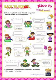 English Worksheets: Personal Identification  - Asking basic questions  (1/2)