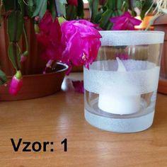 Svietnik sklenený mix vzorov - Sviečka - S čajovou sviečkou LED (plus 1€), Vzor - Vzor 1