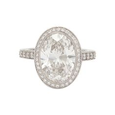 Tiffany & Co. 4.78ct Custom Oval Diamond Ring | From a unique collection of vintage engagement rings at http://www.1stdibs.com/jewelry/rings/engagement-rings/