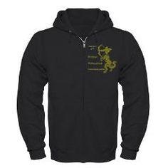 SAGITTARIUS Dark Zip Hoodie> SAGITTARIUS MEN'S T-SHIRTS & CLOTHING> Wanda's T-Shirts and Stuff $44.99