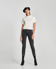 ZARA - TRF - SOFT TOUCH T-SHIRT WITH FUNNEL COLLAR