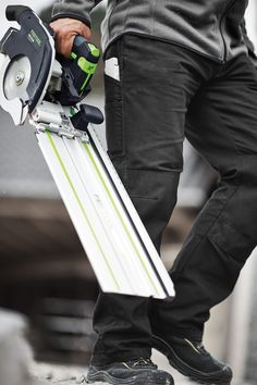 The new Festool HKC 55, 18V Cordless Circular Saw with Guide rail - Designed to be Highly Mobile