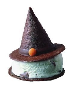 Halloween Sweets, halloween, halloween treats, witch, ice cream, ice cream sandwich, ice cream sand-witch, witch hat