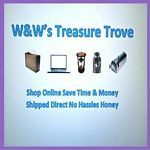 Items in At W&Ws Treasure Trove we're always on the hunt searching out new treasure for our eBay buyers because we know one man's junk is another man's treasure! From clothing, shoes & accessories for men, women & children to mugs, housewares and vintage & modern collectibles. We offer a variety of new & quality preowned items. We have toys, games & puzzles, jewelry, health & beauty items. The goods & chattels are endless. So why not grab a cup of coffee, take a sit down and have a look…