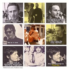 Andrew Lincoln - Rick Grimes and Norman Reedus - Daryl Dixon - TWD