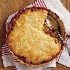 White Bean Chili Cornbread Pie - FineCooking