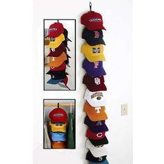 How Do You Organize All Your Hats? Hat OrganizationOrganizing Ideas OrganisationHat StorageBall Cap StorageBaseball HatsBaseball Cap RackCloset  ...
