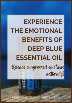 Using essential oils for our emotions can be very powerful and therapeutic.  This post will explore the emotional benefits of doTERRA Deep Blue oil blend.  You can decide for yourself whether you would benefit from the Deep Blue emotional benefits.  I've always been very grateful that I discovered Deep Blue for emotions when I first started using doTERRA essential oils. Emotions Associated With Deep Blue Oil